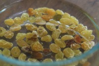 Squash Fettucine raisins