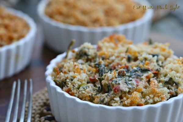 Cheddar Spinach and Roasted Red Peppers