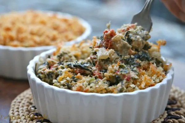 Creamy Spinach and Roasted Red Peppers 2