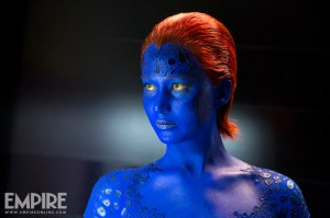 A shot of Mystique played by Jennifer Lawrence - courtesy Empire Magazine