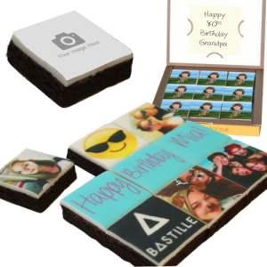 personalised photo brownies