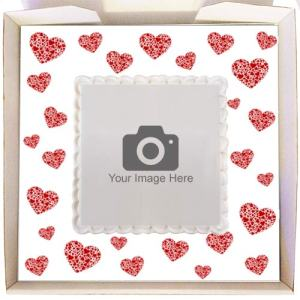 Gift Cakes with Hearts Frame