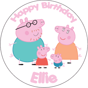 Peppa Pig Family Cake Topper