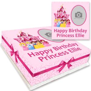 princess photo cake