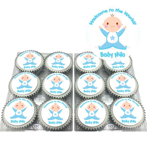Baby Shower Boy Cupcakes