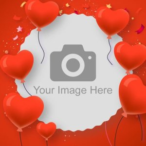 Love Heart Balloons Photo Topper