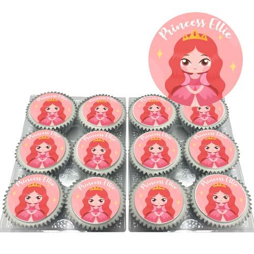 Red Princess Cupcakes