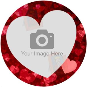 Love heart edible photo designs