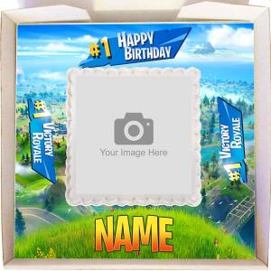 Small Fortnite Birthday Gift Cake
