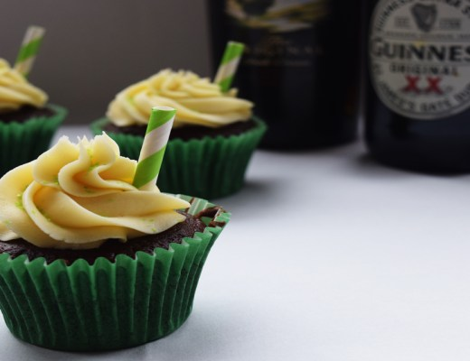 St Patrick's Day cupcakes, with Baileys, Jameson's and Guinness. Definitely an adult treat