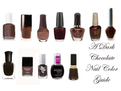 Chocolate brown nail color guide