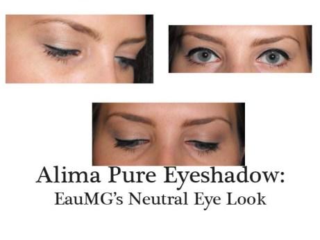 Alima Pure Eyeshadow Neutral Makeup Look