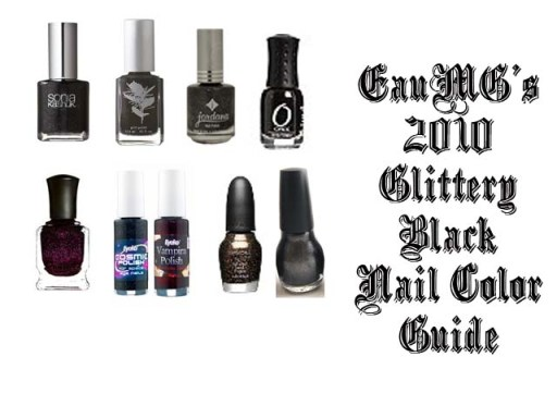 2010 glitter black nail polish guide