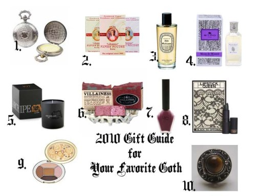 2010 Gift Guide for your favorite lady goth