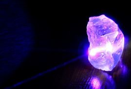 ultraviolet light on a crystal