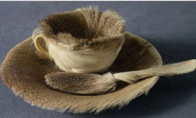 """Oppenheim """"Object"""" Furry Teacup at MoMA"""