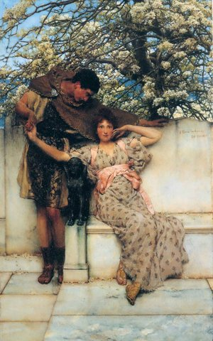 "Lawrence Alma Tadema ""Promise of Spring"""