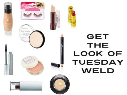 Makeup used to get the look of Tuesday Weld