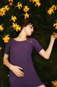 Jane Birkin in the grass