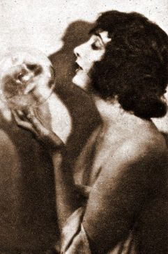 Betty Blythe with crystal ball