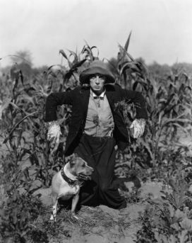 Buster Keaton with dog