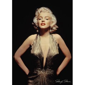 Marilyn Monroe in gold dress