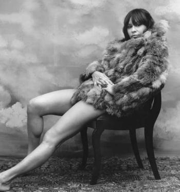 Astrud Gilberto in fur
