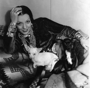 Lupe Velez with chihuahuas