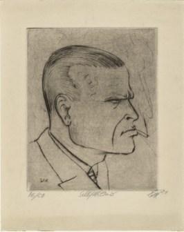 Otto Dix self-portrait 1922
