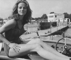 Charlotte Rampling boat
