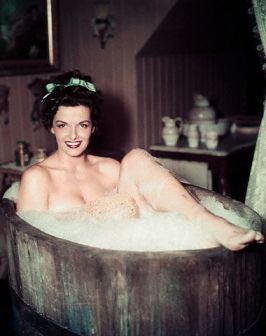 Jane Russell taking a bath