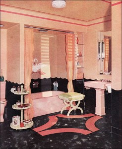 1940 Pink Bathroom