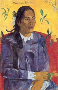 Gauguin Woman with Flower