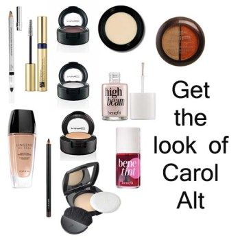 Carol Alt makeup instruction