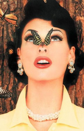 Linda Evangelista with butterfly
