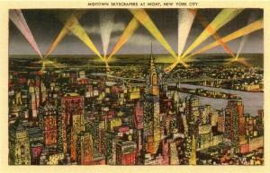 vintage NYC postcard