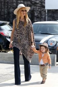 Rachel Zoe with son