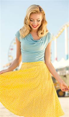 Shabby Apple lemon drop skirt