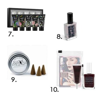holiday goth gift guide