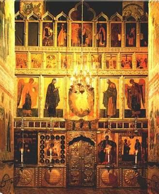 Iconostasis in Moscow