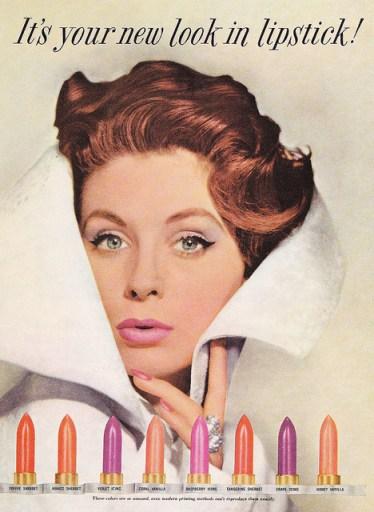 vintage Revlon lipstick ad