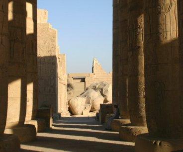 Ramesseum courtyard
