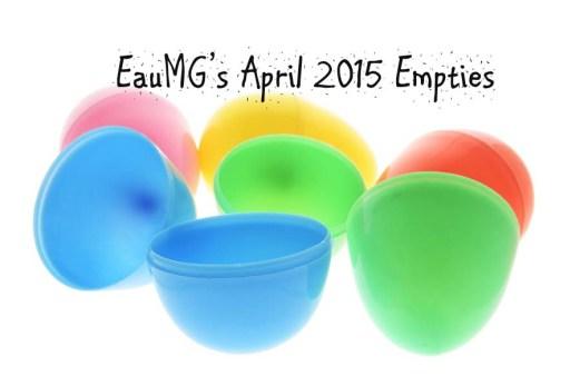 April 2015 Empties