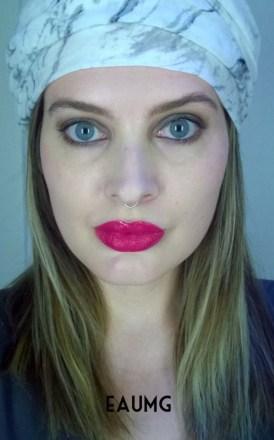 Bright Pink Lipstick Look