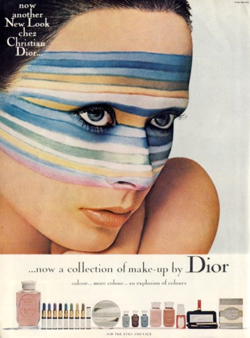 Dior 1969 makeup ad