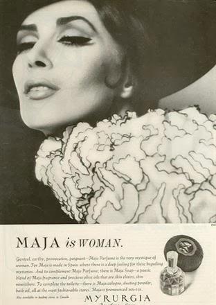 vintage Maja perfume ad