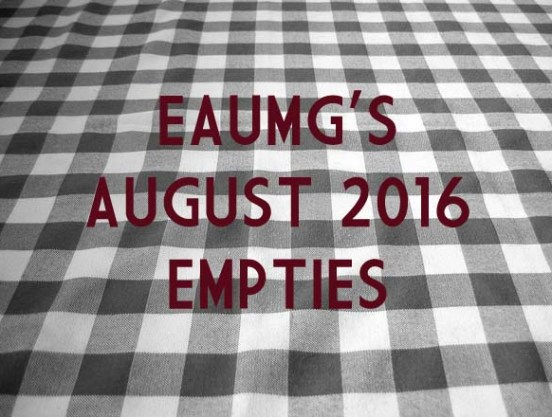 EauMG August 2016 Empties