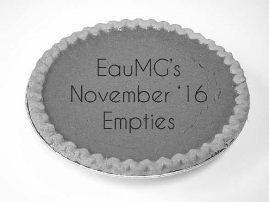 November 2016 Empties