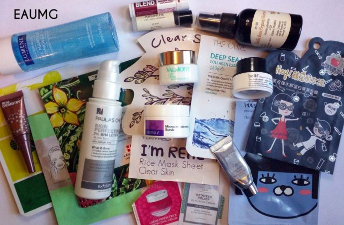 May 2017 skincare empties