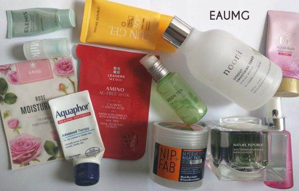 September 2017 skincare empties